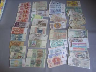 Large Wholesale Lot of Foreign Paper Money Bills Dollars Collection (SEE PICS)