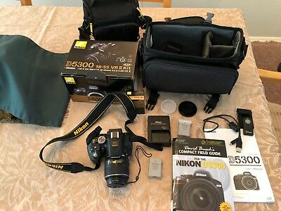 Nikon D5300 Digital SLR Camera With 18-55mm VR Lens 24.2mp, Lightly Used, Extras