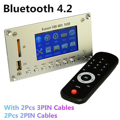 """3"""" LCD MP3 Decoder Board Bluetooth 4.2 Audio Receiver HD Video Player DTS FLAC"""