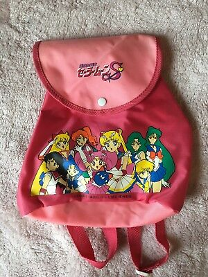 Sailor Moon Vintage Kids Drawstring Backpack Kawaii