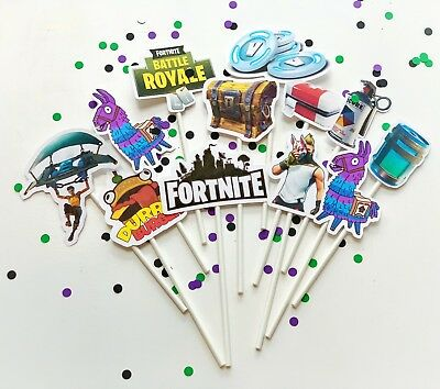 FORTNITE Cupcake Toppers fortnite birthday fortnite party (Handmade) personalize
