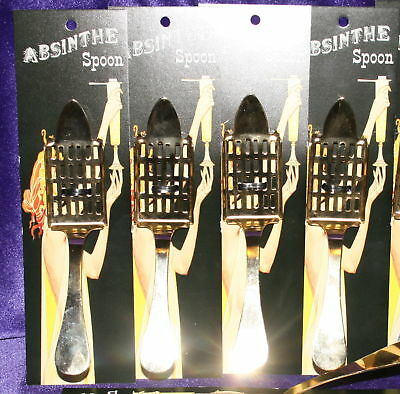 New Absinthe Imported #29 Spoon Set of 4, Gold plated