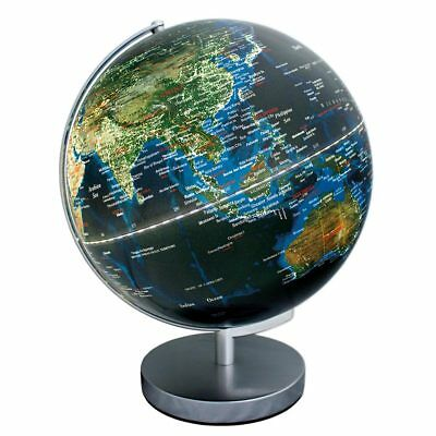 30cm 2-In-1 City Light Lamp Globe Illuminated Glossy Physical Earth Map Lamp