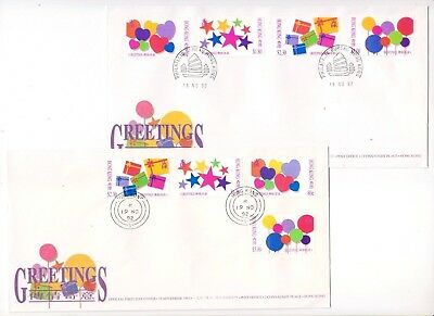 "Hong Kong, 1992, ""greeting Stamps"" Stamp Set On Gpo Fdc. Can Choose Chop Fresh"