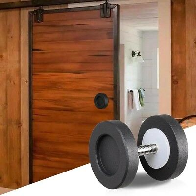 """2"""" Cast Iron Round Knob Handle Pull Gate Shed Matte Black for Sliding Barn Door"""