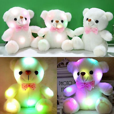 Baby Kids LED Stuffed Bear Toy Kids Night Xmas Gift So Cute Toys For Girls AU