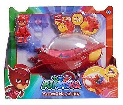 PJ Masks OWL GLIDER with OWLETTE DELUXE VEHICLE with LIGHTS AND SOUNDS