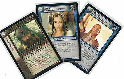 Lord of the Rings CCG Mount Doom: 3x Rare Cards   freie Auswahl    Lot