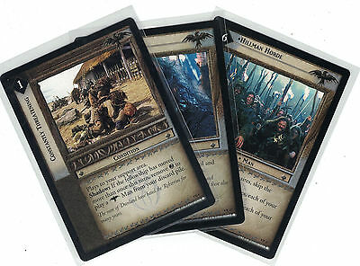 Lord of the Rings CCG Two Towers: 3x Rare Cards   freie Auswahl    Lot