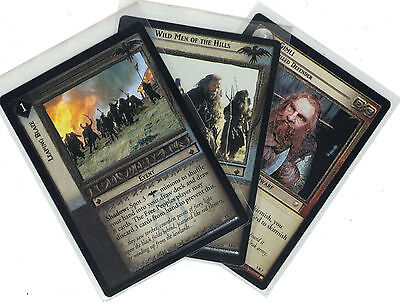 Lord of the Rings CCG Battle of Helm´s Deep: 3x Rare Cards  freie Auswahl    Lot