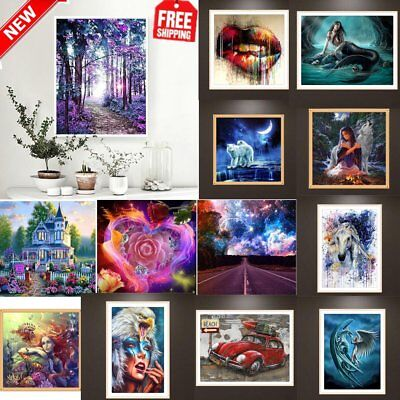 DIY 5D Diamond Embroidery Painting Art Stitch Craft Kit Cross multi styles CN