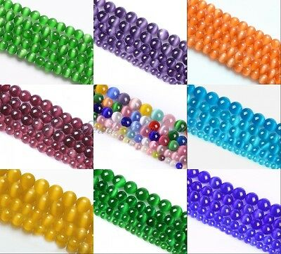 Wholesale Cat's Eye Round Ball Crystal Glass Loose Spacer Beads 4/6/8/10mm Lot