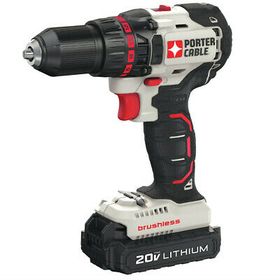 Porter-Cable 20V MAX 1.3 Ah Li-Ion Compact Brushless Drill Driver PCC608LB New