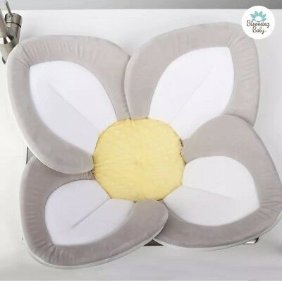 Blooming Bath Lotus Baby Bath, Repackaged, Bathing Mat,Flower Bath,White/Yellow