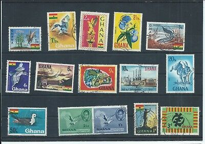Ghana stamps. Some of the 1967 series used plus a few others. CV £9 (C578)
