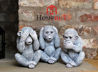 3 Wise Monkeys Indoor Ornaments Decorative Outdoor Hear, See And Speak No Evil