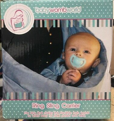 Baby Womb World RING SLING WRAP CARRIER for Newborns Infants & Toddlers Blue