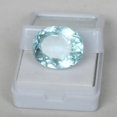 21.00 Ct. Natural Aquamarine Greenish Blue Color Oval Cut Certified Loose Gems