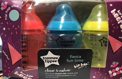 Tommee Tippee Closer to Nature Fiesta Baby Bottle 9oz 6 Colors Used