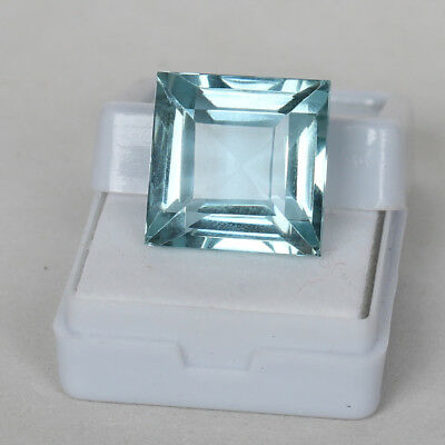 23.50 Ct. Natural Aquamarine Greenish Blue Color Square Cut Loose Certified Gem