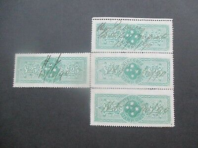 Victoria Stamps: £25 Block of 4 - 3rd Printing - Rare   (v116)