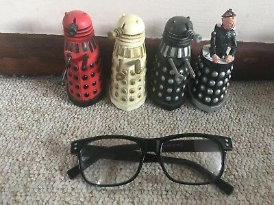 """DOCTOR WHO x4 movable dalaks aprox 4""""high"""