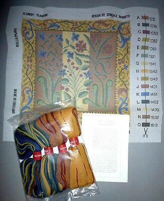 EHRMAN FLEMISH FLOWERS by CANDACE BAHOUTH NEEDLEPOINT TAPESTRY KIT DISCONTINUED