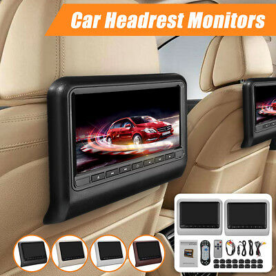 """9""""Inch Car Headrest DVD Player Auto Monitor Video Game FM IR Touch Button USB SD"""
