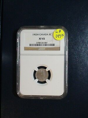 1903H Canada Five Cents NGC XF45 SILVER 5C Coin PRICED TO SELL!