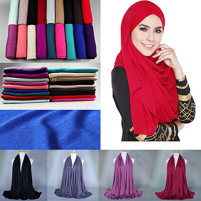 Women's Fashion Cotton Long Scarf Muslim Hijab Arab Wrap Shawl Headwear Lot