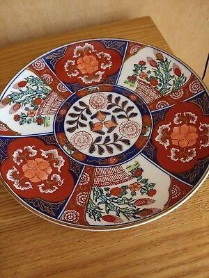 "Antique/Vintage Japanese Imari Plate Hand Painted Rare 9.4"" across. 32"" round"