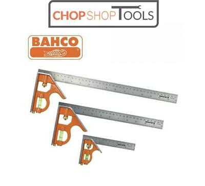 Bahco Combination Set Square Stainless Steel Ruler TRIPLE Pack 150mm 300mm 400mm