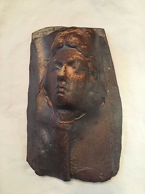 Ishmael Soto Pottery Mid-Century Woman Silhouette Wall Pocket