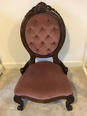 Antique Victorian Style Bedroom Chair