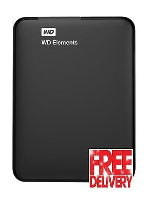 Western Digital 500GB Portable Hard Drive External Elements With USB 3.0 Cable