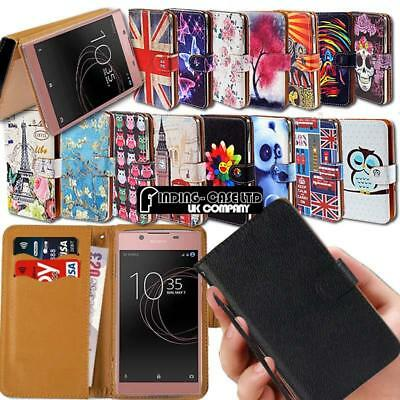 For Sony Xperia XZ SmartPhones Leather Smart Stand Wallet Case Cover
