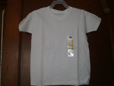 New Boys Short Sleeve V-Neck Tee Shirt Size 4/5 White