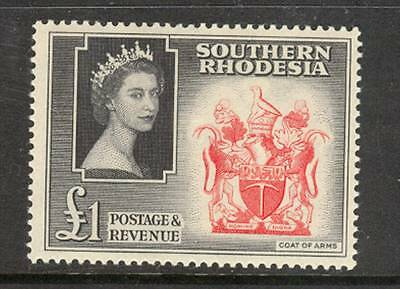 BRITISH COLONY SOUTHERN  RHODESIA  1 Pound  MNH / Very Litlle  MH as on scans