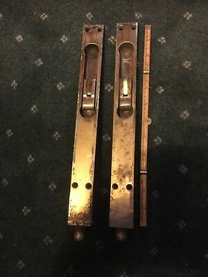 A Pair Of  Large Antique Louver Door Latch Bolt Locks
