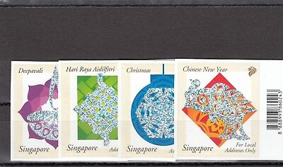 Singapore - Sg1237-1240 Mnh 2002 Festivals - Self Adhesive