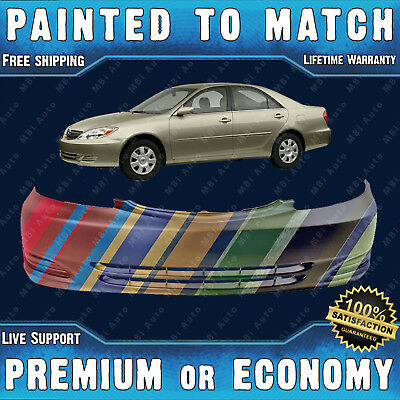 NEW Painted To Match - Front Bumper for 2002-2004 Toyota Camry USA Built w/o Fog