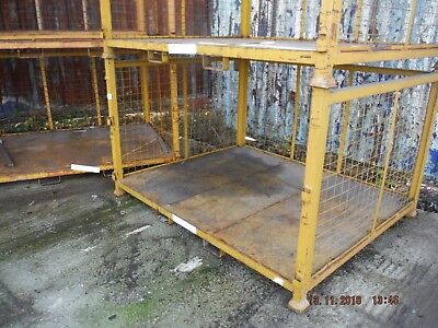 1 x Large Storage Stack-able Metal Cage Pallet. These pallets can be fork-liftet