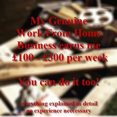 My genuine Work From Home business turn FREE material into cash £100-300 p/week