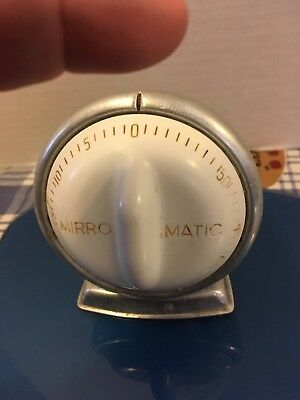 Vintage Mirro Matic Kitchen Timer Robert Shaw Works White Aluminum Mid Century