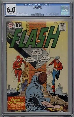 Flash # 123 CGC 6.0 FN White Pages 1961 The Multiverse Starts Here! Hard to Find