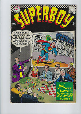 "Superboy #140, (July 1967, DC), ""1st Lucky Lucifer"", + 1 Other Story, [3.5 VG-]"