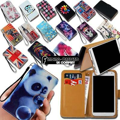 For Various Smartphones Universal Leather Smart Stand Wallet Cover Case