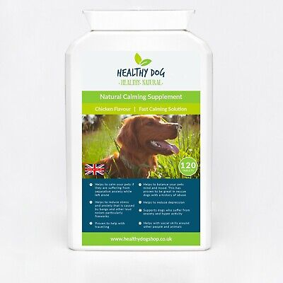 Dog Calming Supplement Chicken Flavour Tablets - Anxiety & Hyperactivity Support