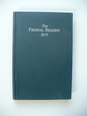 Very Rare 1914 Barron Federal Reserve Act Book Banking Wall Street Journal