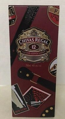 "CHIVAS Regal Whisky 10"" Tin Lmtd Edition Men Globe Trotter Suitcase Bar Display"